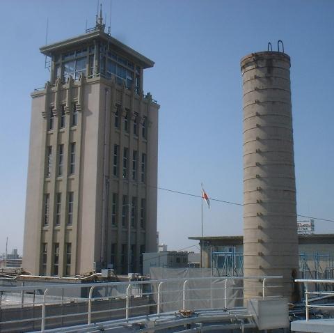 大牟田市庁舎の煙突